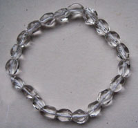 facet crystal bracelet