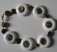 white jade tiger eye bracelet